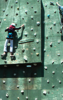 Blue Sky Camp Rock Climbing
